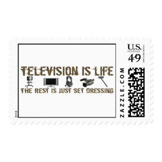 Television is Life Postage