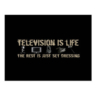 Television is Life Postcard