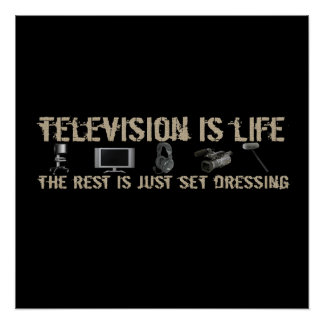 Television is Life Poster