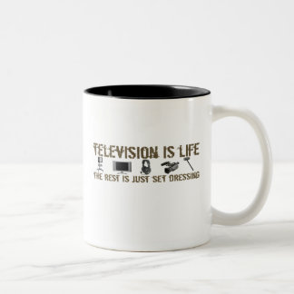 Television is Life Two-Tone Coffee Mug