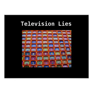 Television lies poster