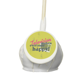 Television Makes Everyone Happy! Cake Pops