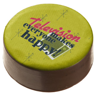 Television Makes Everyone Happy! Chocolate Dipped Oreo