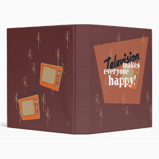 Television Makes Everyone Happy! Copper Brown Vinyl Binder