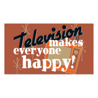 Television Makes Everyone Happy! Copper Brown Business Card