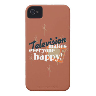 Television Makes Everyone Happy! Copper Brown iPhone 4 Case