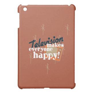 Television Makes Everyone Happy! Copper Brown Case For The iPad Mini