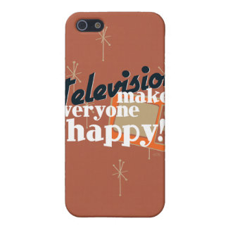Television Makes Everyone Happy! Copper Brown Cover For iPhone SE/5/5s