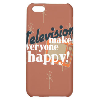 Television Makes Everyone Happy! Copper Brown iPhone 5C Case