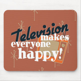 Television Makes Everyone Happy! Copper Brown Mouse Pad