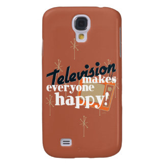 Television Makes Everyone Happy! Copper Brown Samsung Galaxy S4 Cover