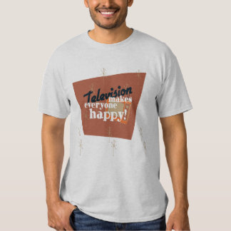 Television Makes Everyone Happy! Copper Brown T Shirt