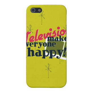 Television Makes Everyone Happy! Cover For iPhone SE/5/5s