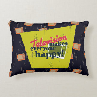 Television Makes Everyone Happy! Decorative Pillow