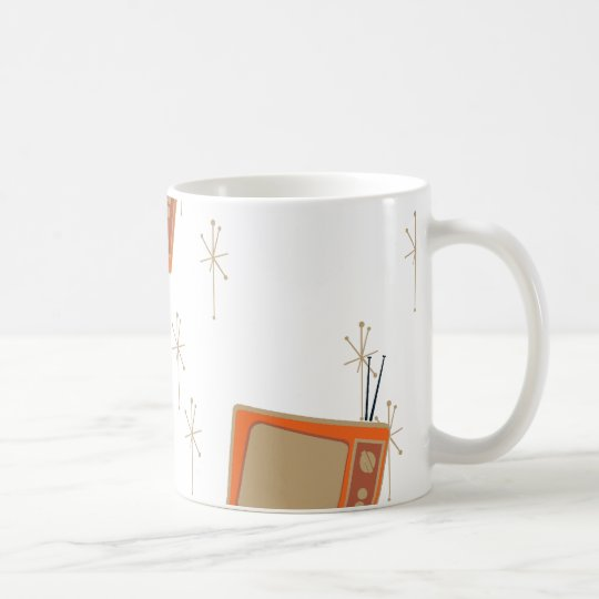 Television Makes Everyone Happy! Falling TVs Coffee Mug