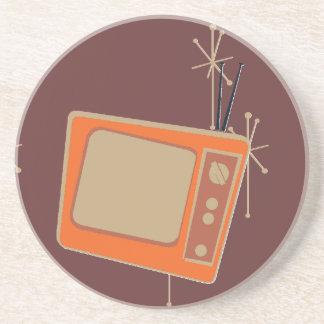 Television Makes Everyone Happy! Falling TVs Drink Coaster