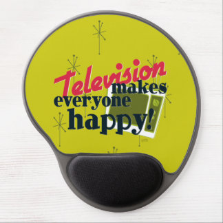 Television Makes Everyone Happy! Gel Mouse Pad