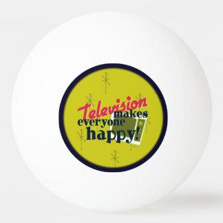 Television Makes Everyone Happy! Ping-Pong Ball