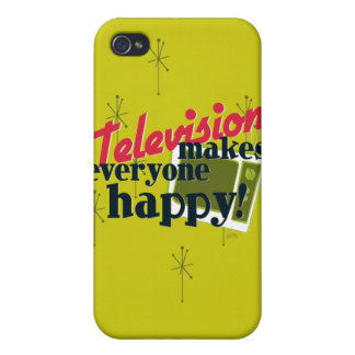Television Makes Everyone Happy! iPhone 4 Cover
