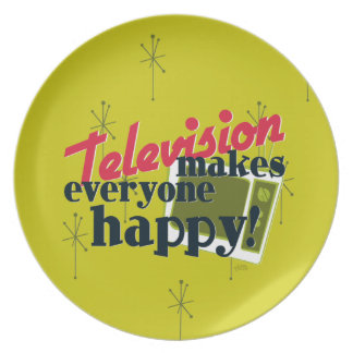 Television Makes Everyone Happy! Plate