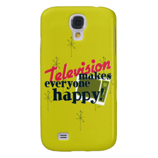 Television Makes Everyone Happy! Samsung Galaxy S4 Case