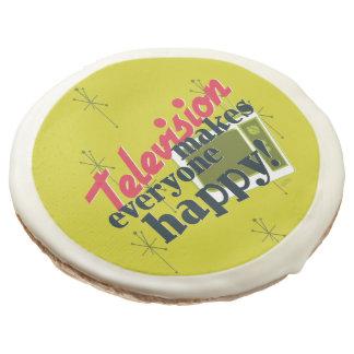 Television Makes Everyone Happy! Sugar Cookie