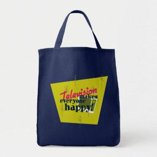 Television Makes Everyone Happy! Tote Bag