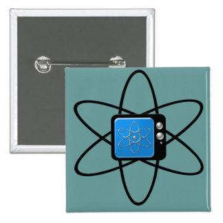 Televisión nuclear pin cuadrado