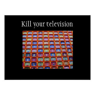 Television overdose poster