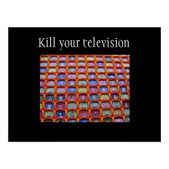 Television overdose poster