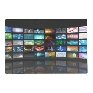 Television Production Technology Concept Laminated Place Mat