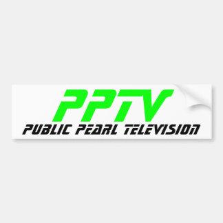 Televisión pública de la perla etiqueta de parachoque