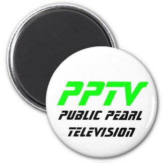Televisión pública de la perla imán redondo 5 cm