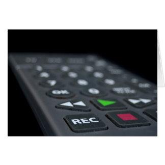 Television Remote Card