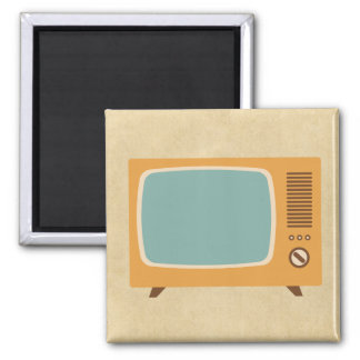 Televisión retra imán cuadrado