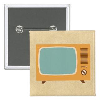 Televisión retra pin cuadrado