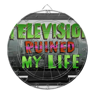 TELEVISION RUINED MY LIFE (YaWNMoWeR) Dartboard With Darts