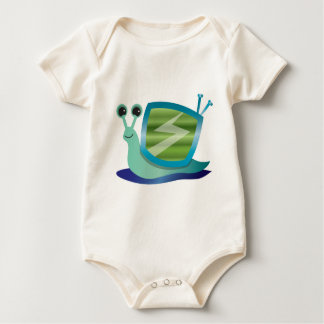 Television snail baby bodysuit