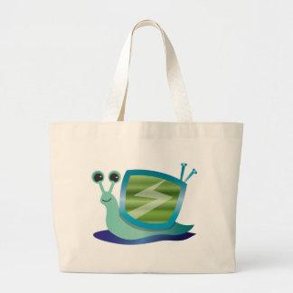 Television snail canvas bag