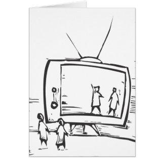 televisión tarjeta de felicitación