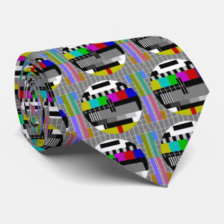 Television Test Card Closedown Pattern Neck Tie