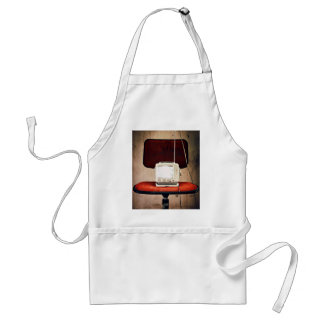 Television Themed, A Retro Television Is Kept On A Adult Apron