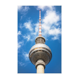 Television tower in Berlin (Germany) Canvas Print