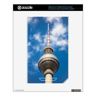 Television tower in Berlin (Germany) NOOK Color Decals