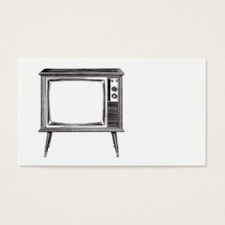 Television TV Set Retro Floor Console Business Card