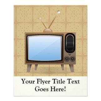 Televisión vieja del piso del vintage tarjetas publicitarias