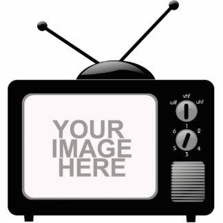 Televisión vieja fotoescultura vertical