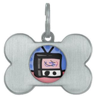 Televisión vieja placa mascota