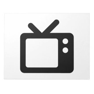 Television with Rabbit Ears Note Pads