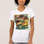 Televisiones estéreas de alta fidelidad del kitsch camisetas